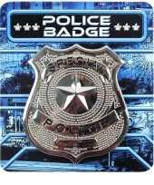 Zilveren politie badge verkleed accessoire trend