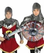 Zilveren ridder set opblaasbaar trend 10099569