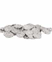 Zilveren schatkist muntjes 100 stuks trend