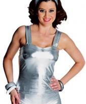 Zilveren shirtje dames trend