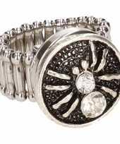 Zilveren spin chunk ring voor volwassenen trend
