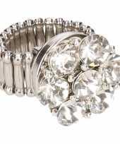 Zilveren steentjes chunk ring voor volwassenen trend