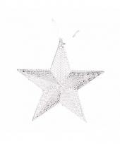 Zilveren ster voor in de kerstboom 10 cm trend