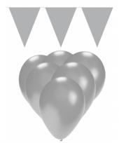 Zilveren versiering decoratie pakket trend