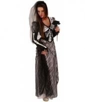 Zombie bruidsjurk zwart voor volwassenen trend