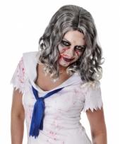 Zombie pruik met krullend haar trend