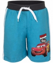 Zomerkleding blauwe korte broek cars trend