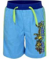 Zomerkleding blauwe korte broek ninja turtles trend