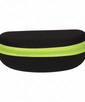 Zonnebrillen hoesje zwart met groen trend