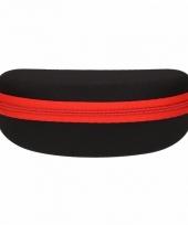 Zonnebrillen hoesje zwart met rood trend