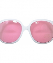 Zonnebrillen wit mer roze glazen trend