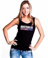 Zwart australie supporter singlet-shirt tanktop dames trend