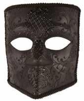 Zwart bauta masker voor heren trend