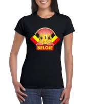 Zwart belgie supporter kampioen shirt dames trend