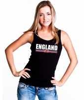 Zwart engeland supporter singlet-shirt tanktop dames trend