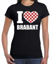 Zwart i love brabant t-shirt dames trend