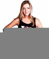 Zwart i love denemarken fan singlet-shirt tanktop dames trend