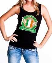 Zwart ireland drinking team tanktop mouwloos shirt dames trend