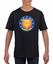 Zwart kampioen shirt voor kinderen trend