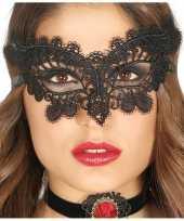 Zwart kanten oogmasker voor dames trend 10124296