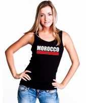 Zwart marokko supporter singlet-shirt tanktop dames trend