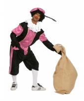 Zwart met roze pieten kostuum trend