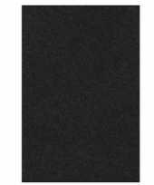 Zwart papieren tafelkleed 137 x 274 cm trend