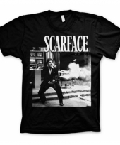 Zwart scarface wanna play rough t-shirt trend