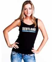 Zwart schotland supporter singlet-shirt tanktop dames trend