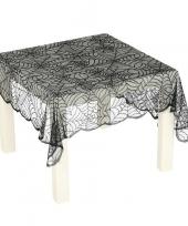 Zwart spinnenweb tafelkleed 70 x 95 cm trend
