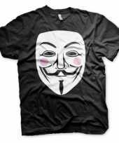 Zwart v for vendetta t-shirt trend