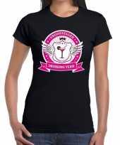Zwart vrijgezellen drinking team t-shirt dames trend