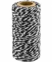 Zwart wit bakkerstouw 50 meter hobby materiaal trend