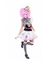 Zwart witte clown kostuums voor dames trend