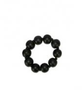 Zwarte armband met grote kralen trend
