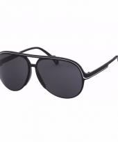 Zwarte aviator dames zonnebril model 5613 trend