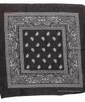 Zwarte bandana zakdoek 55 x 55 cm trend