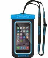 Zwarte blauwe waterproof hoes voor smartphone mobiele telefoon trend