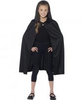 Zwarte cape met capuchon voor kinderen trend