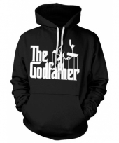 Zwarte capuchon sweater the godfather trend