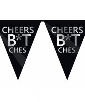 Zwarte cheers bitches vlaggenlijn brutaal trend