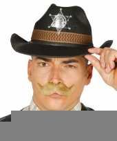 Zwarte cowboy verkleedhoed voor heren trend