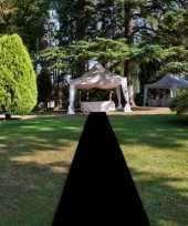 Zwarte decoratie loper 1 meter breed trend