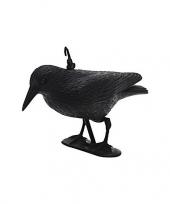 Zwarte decoratie raaf kraai 35 cm trend