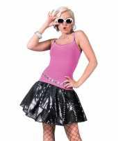 Zwarte disco seventies verkleed rok voor dames trend