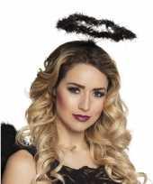 Zwarte engel verkleed diadeem tiara met halo trend