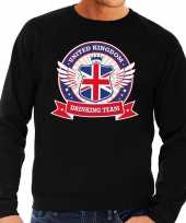 Zwarte engeland drinking team sweater heren trend