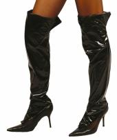 Zwarte glimmende laarshoezen voor dames trend