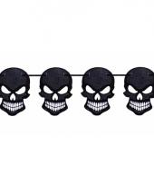 Zwarte glitter slinger met doodshoofden trend