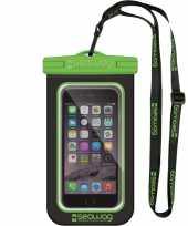 Zwarte groene waterproof hoes voor smartphone mobiele telefoon trend